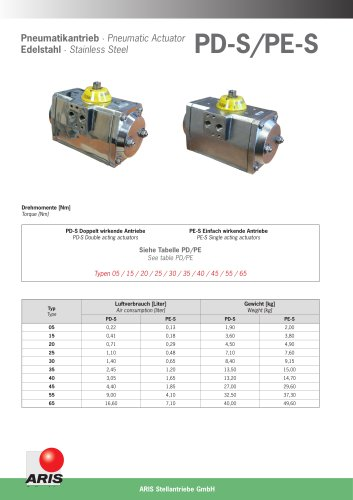 Pneumatic Actuator S Stainless Steel