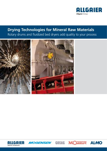 Drying Technologies for Mineral Raw Materials