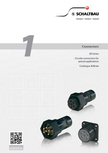 Circular connectors for special applications, SB series