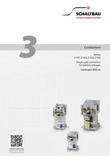 Contactors for battery voltages C137, C163, C164, C165