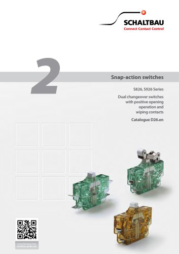 Snap-action Switches S826 and S926