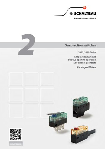 Snap-action switches S870,S970 Series