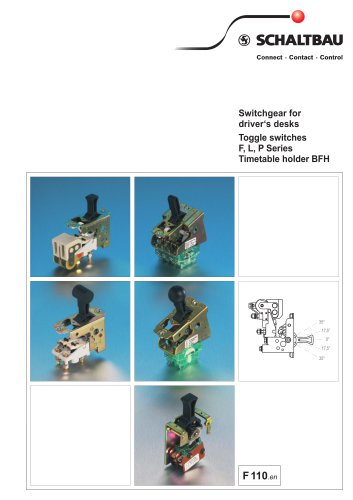 Toggle switches F, L, P Series, Timetableholder BFH