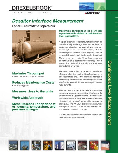 Desalter Interface Measurement