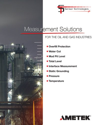 Measurement Solutions for the Oil and Gas Industries