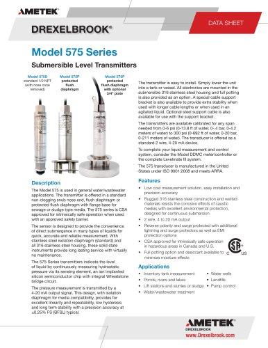 Model 575 Series