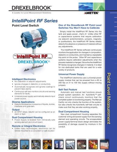 RF Admittance Level Measurement RXL Series, IntelliPoint