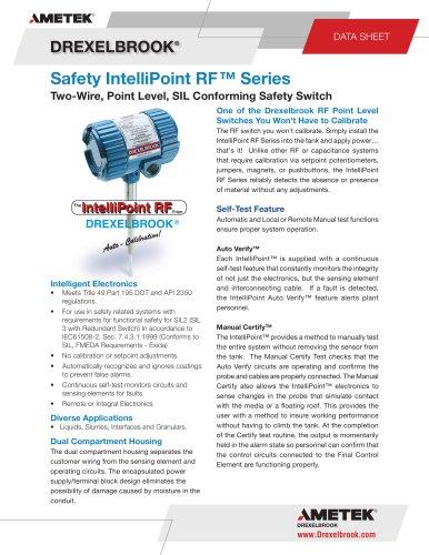 SXRXT Series, Safety IntelliPoint