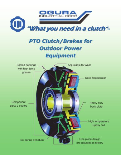 PTO Clutch/Brakes for Outdoor Power Equipment