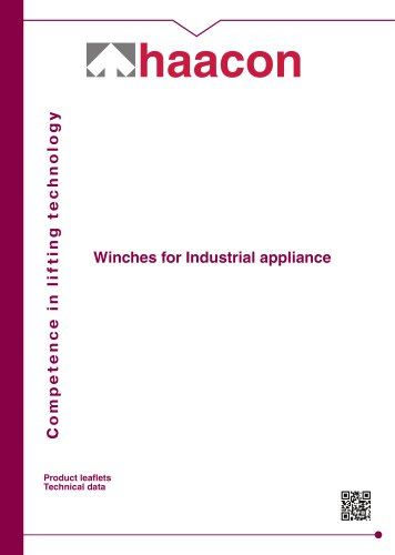 Brochure Industrial cable winches