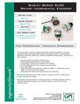 Gurley Series 9x20 Rotary Incremental Encoder