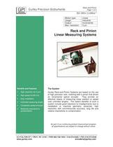 Rack and Pinion Linear Measuring System