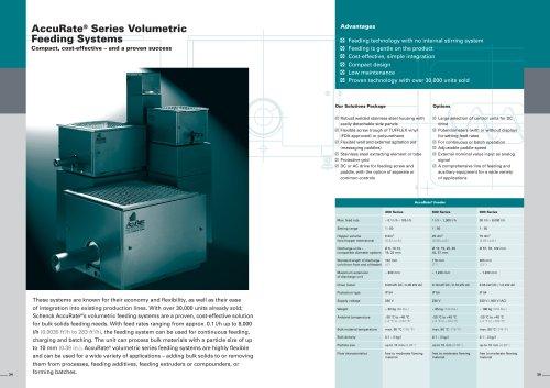 AccuRate® Series Volumetric Feeding Systems