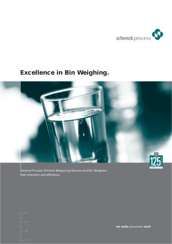 Fill-level Measuring Devices. Bin Weighers.