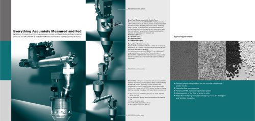 MULTICOR® S Mass Flow Meters and Feeders with Highly Accurate Coriolis Technology