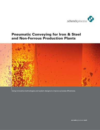 Pneumatic conveying for iron & steel and non-ferrous production plants