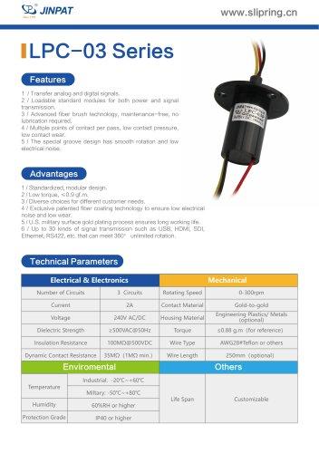 LPC-03 Series Capsule Slip Ring