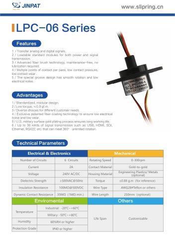 LPC-06 Series Capsule Slip Ring