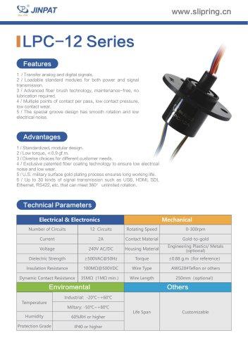 LPC-12 Series Capsule Slip Ring