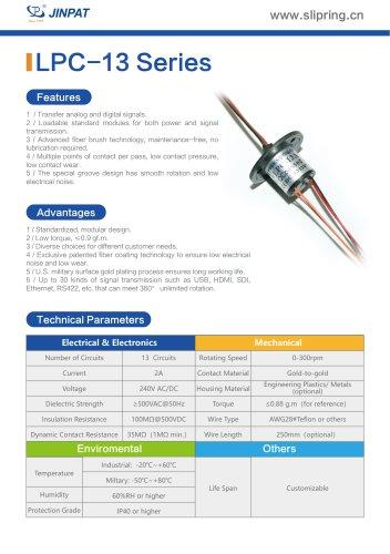 LPC-13 Series Capsule Slip Ring