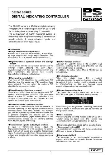 Digital Indicating Controller DB2000