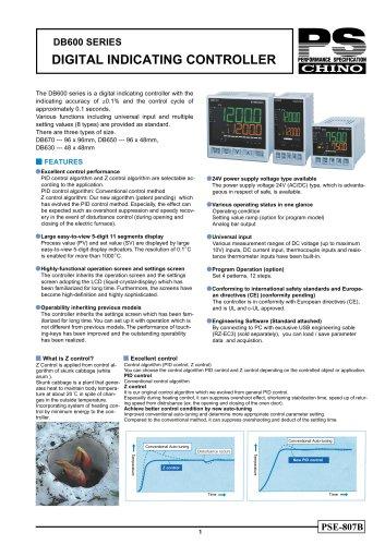 Digital Indicating Controller DB630/DB650/DB670