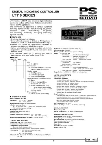 Digital Indicating Controller LT110