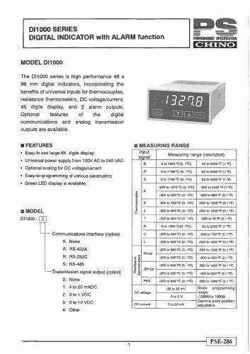 Digital Indicator with Alarm function