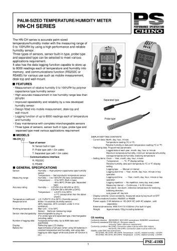 Portable temperature/humidity meter: HN-CH