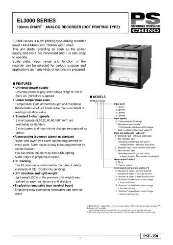 Strip Chart Recorder EL3000 dotting