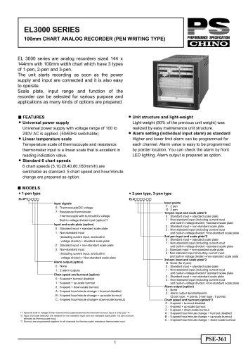 Strip Chart Recorder EL3000 pen