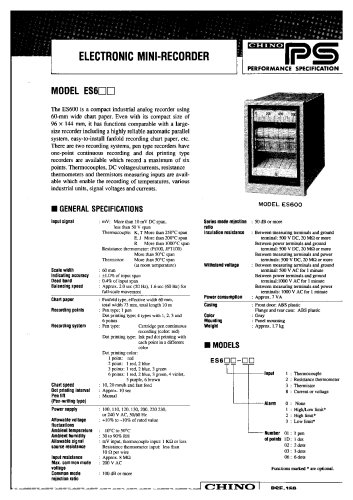 Strip Chart Recorder ES600