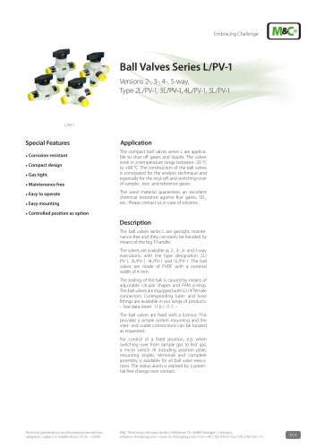 Ball Valves Series L/PV-1