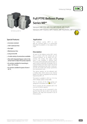 Full PTFE Bellows PumpSeries MP®