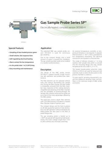 Gas Sample Probe Series SP® - Version SP2100-H