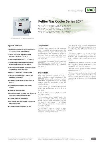 Peltier Gas Cooler Series ECP®