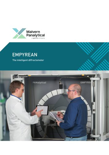 Empyrean, the market's intelligent  X-ray diffractometer; automatic batch analysis of multiple samples without any manual intervention to change optics