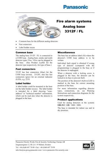 Analog base 3312F / FL