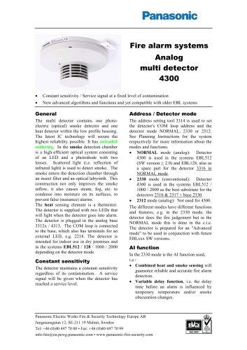 Analog multi detector 4300
