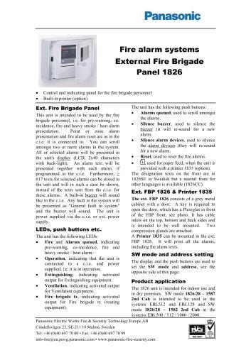External Fire Brigade Panel 1826