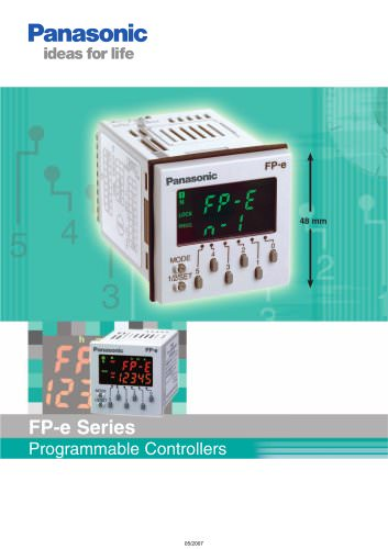 FP-e: PLC for panel mounting