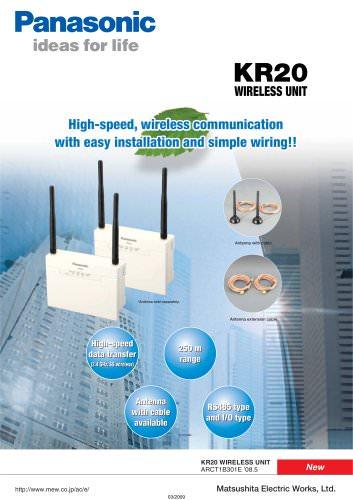 KR20 Wireless Unit: high-speed wireless communication