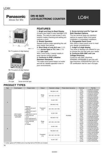 LC4H - digital counter