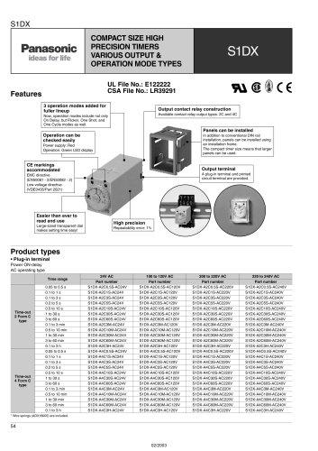 S1DX – analog timer