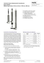 Inductive linear displacement transducers IW250