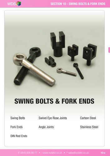 WDS Swing Bolts & Fork Ends