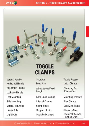 WDS Toggle Clamps and Accessories