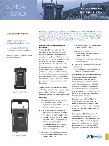 RADIO TRIMBLE TDL 450L E 450H