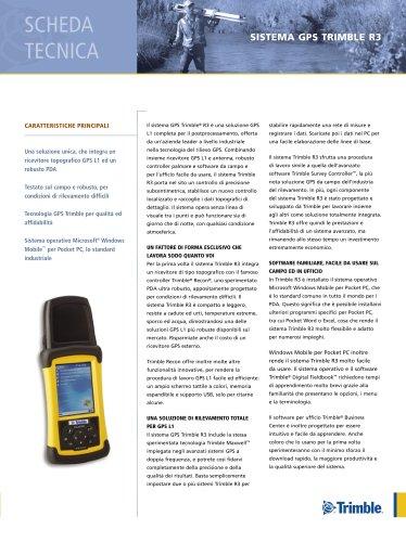 Trimble R3 GPS System Datasheet - Italian