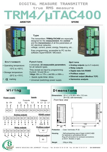TRM4/µTAC 400